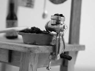 Detail of meat mincer. © Richard Rawlins