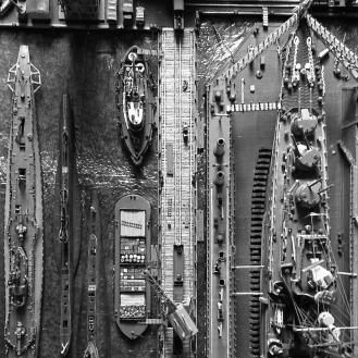 Bird's-eye-view of the naval dockyard.